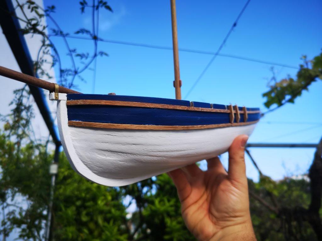Bollos en la lancha del capitan del HMS Agamemnon