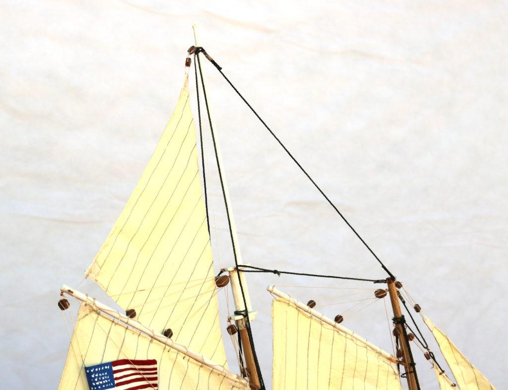 Vela escandalosa del America Yacht 1:66