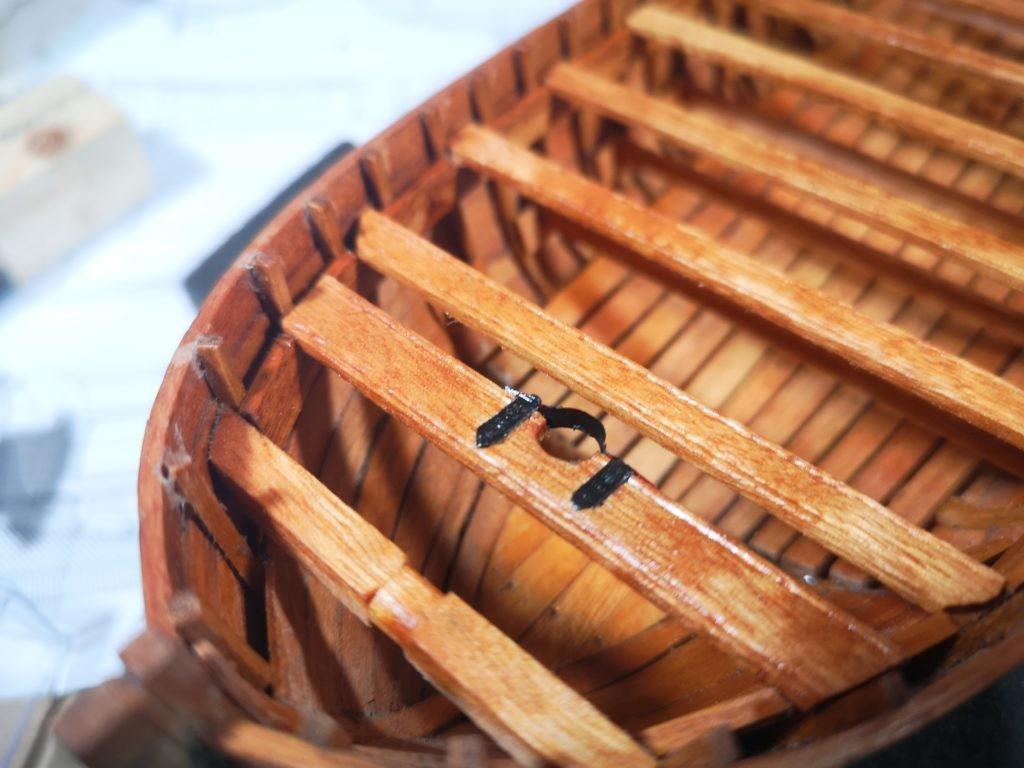 Fogonadura del palo trinquete de la chalupa armada de ANCRE.